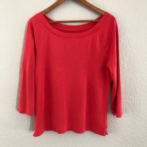 Talbots 'The Talbots Tee' Red Pima Cotton T-Shirt